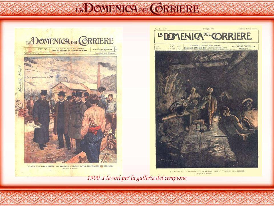 1900 I lavori per la galleria del sempione