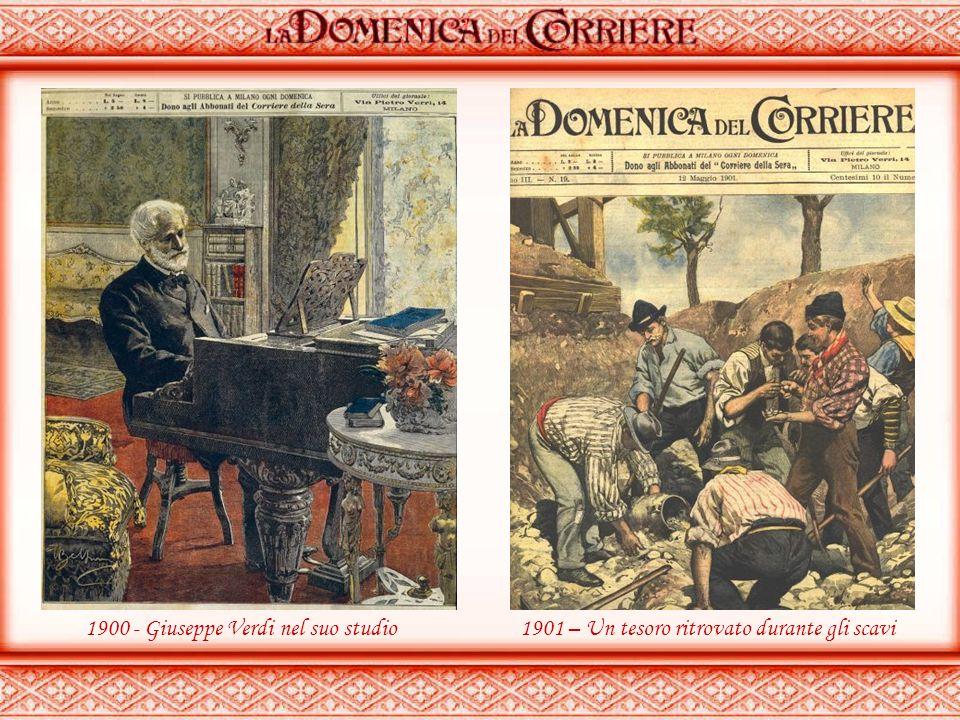 1900 - Giuseppe Verdi nel suo studio