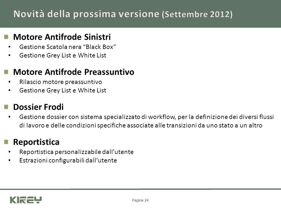 Novità della prossima versione (Settembre 2012)