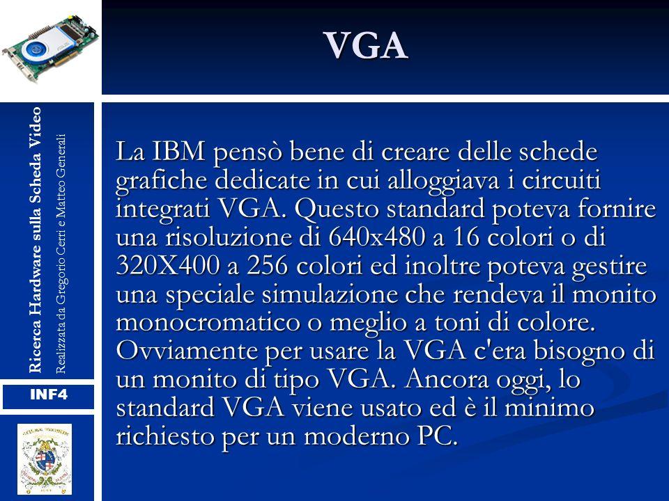 VGA Ricerca Hardware sulla Scheda Video. Realizzata da Gregorio Cerri e Matteo Generali.