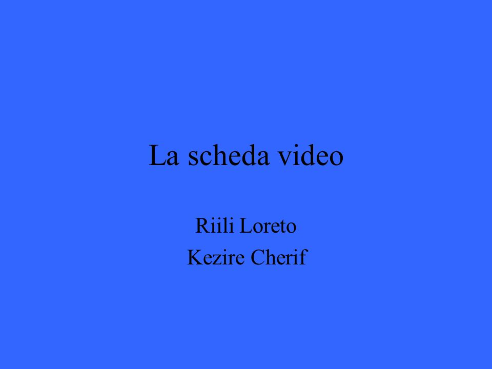 Riili Loreto Kezire Cherif
