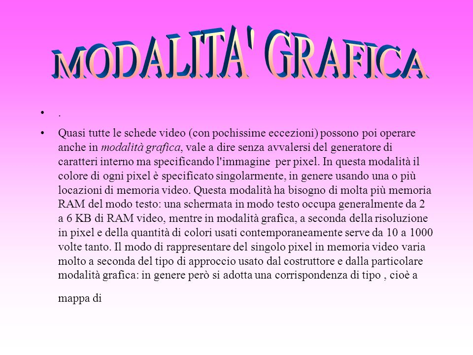 MODALITA GRAFICA .