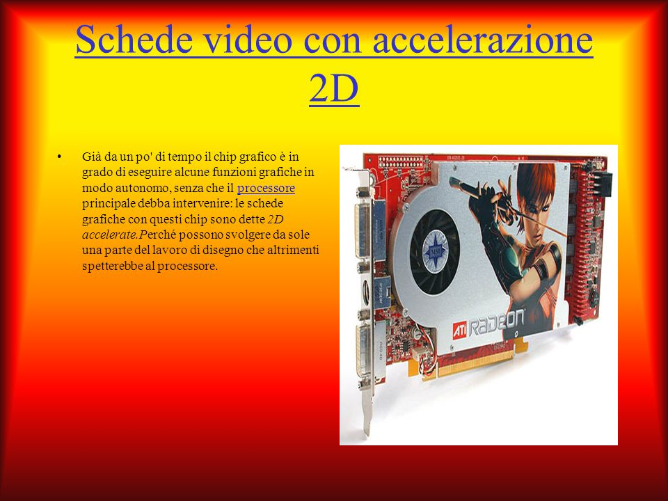 Schede video con accelerazione 2D