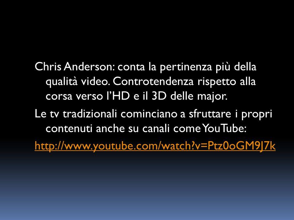 Chris Anderson: conta la pertinenza più della qualità video