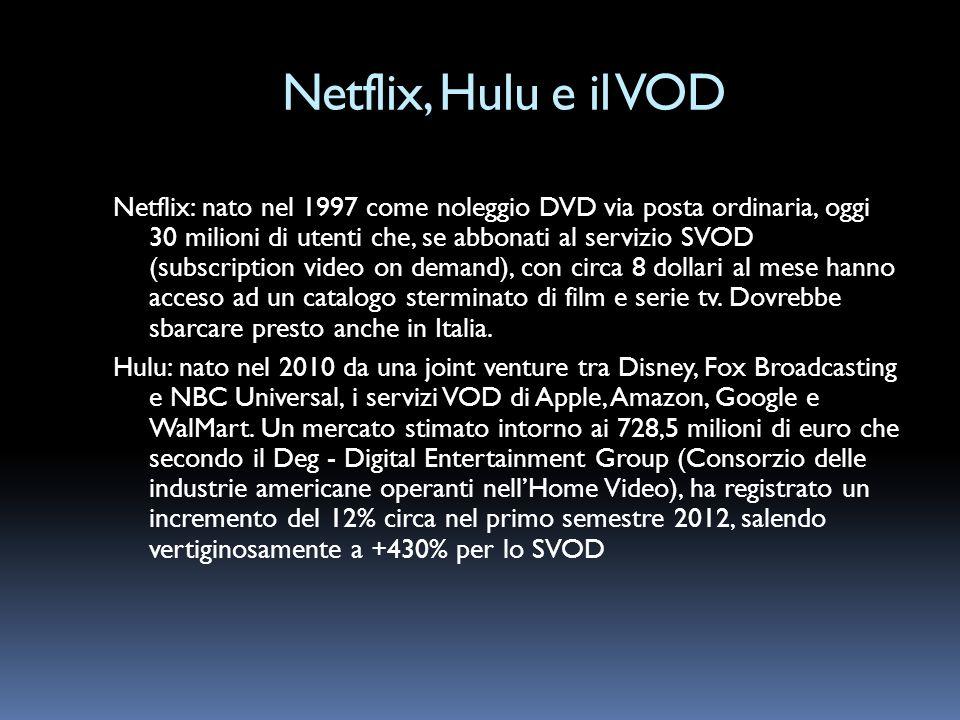 Netflix, Hulu e il VOD