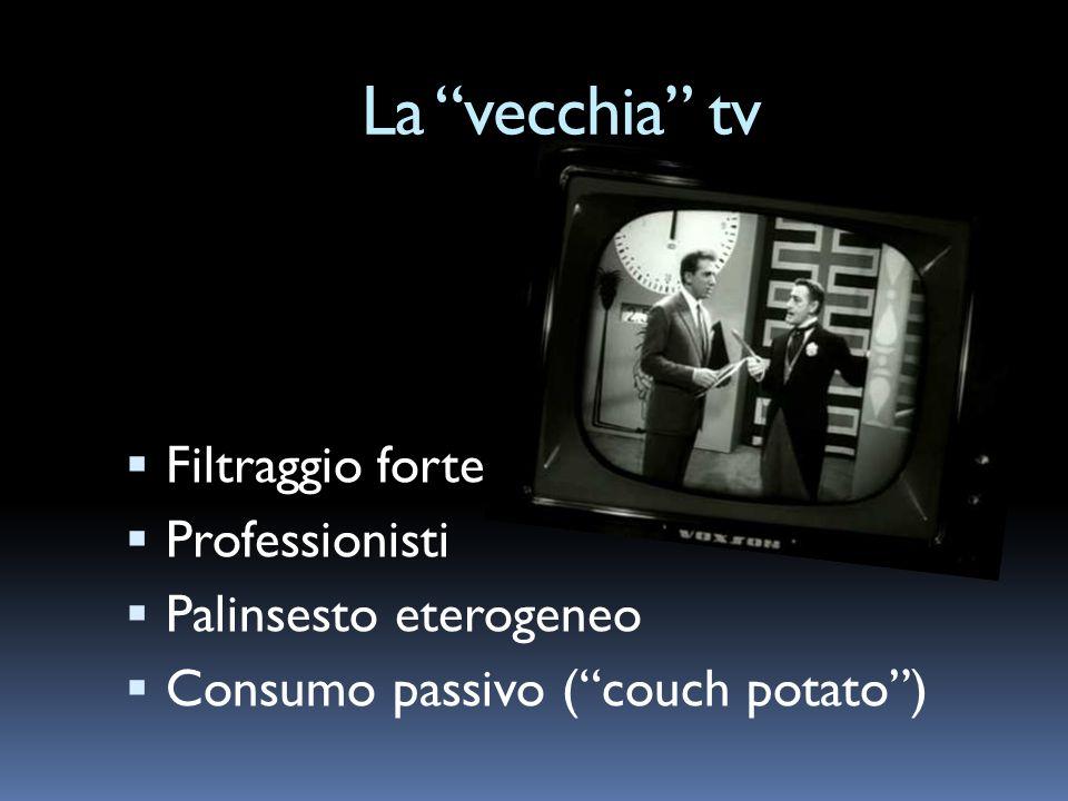 La vecchia tv Filtraggio forte Professionisti Palinsesto eterogeneo