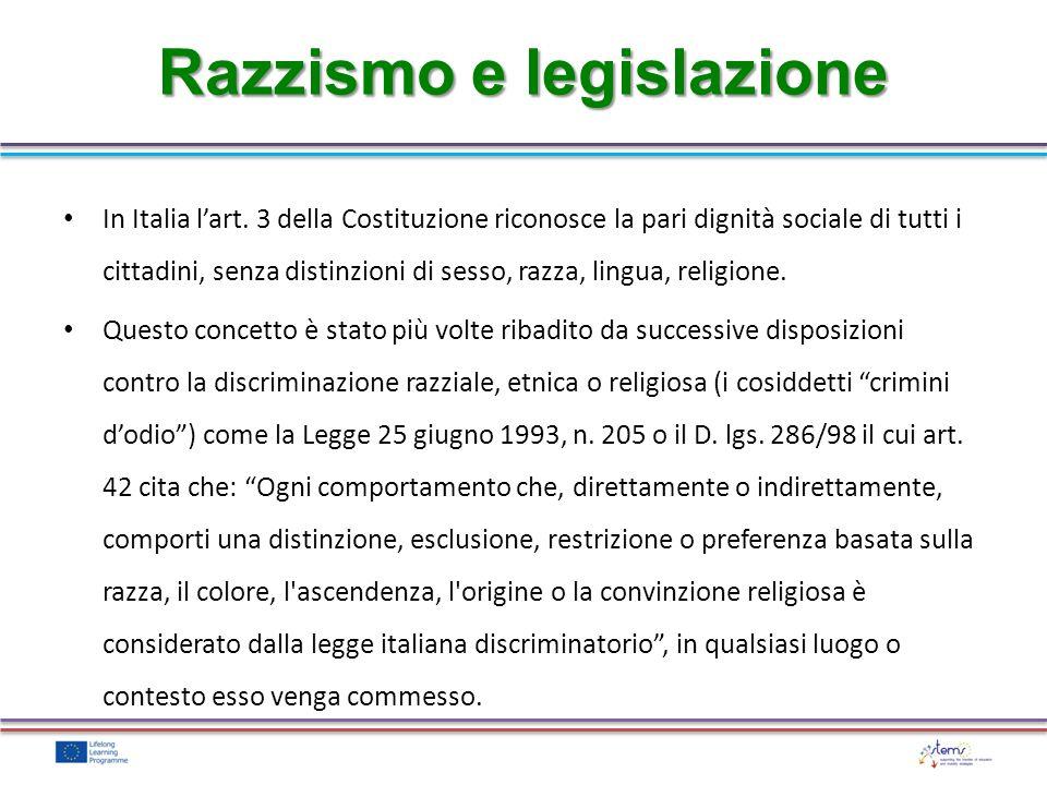 Razzismo e legislazione