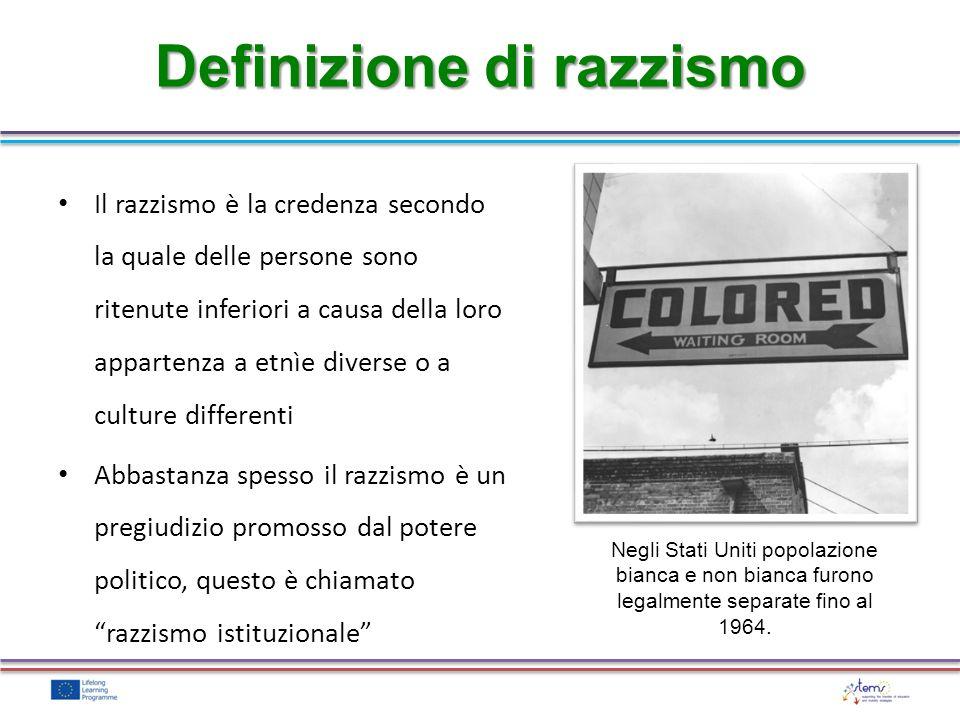 Definizione di razzismo