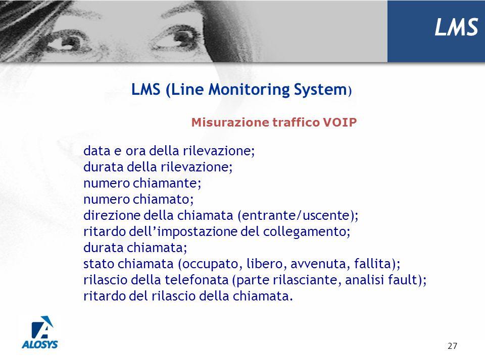 LMS (Line Monitoring System) Misurazione traffico VOIP