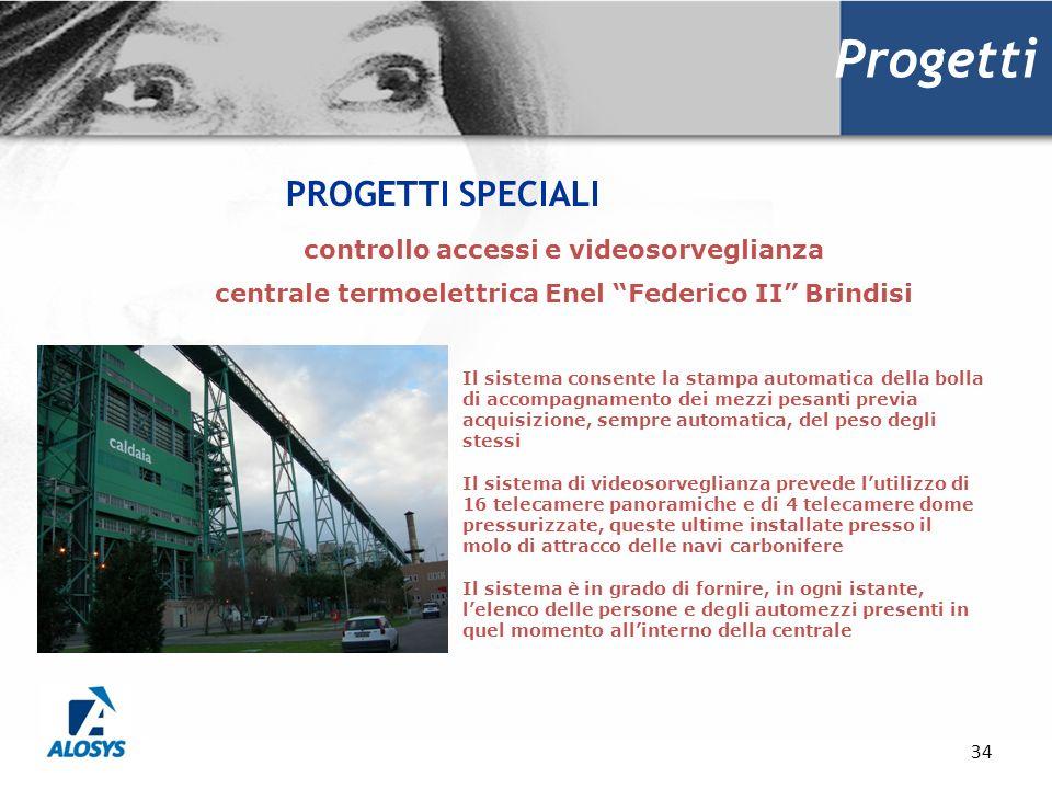 Progetti PROGETTI SPECIALI controllo accessi e videosorveglianza