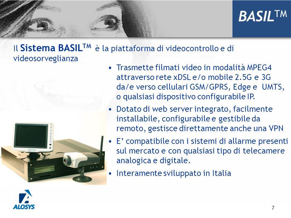 BASILTM Il Sistema BASILTM è la piattaforma di videocontrollo e di videosorveglianza.