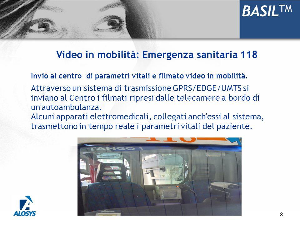 BASILTM Video in mobilità: Emergenza sanitaria 118