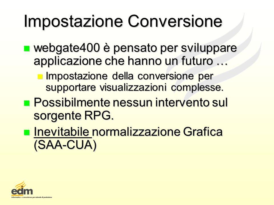 Impostazione Conversione