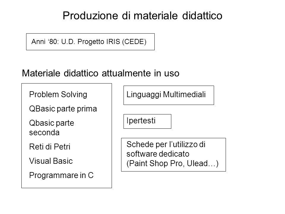 Produzione di materiale didattico