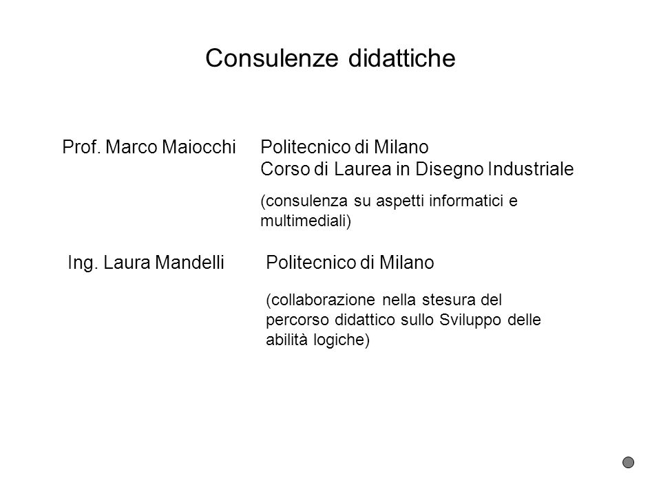Consulenze didattiche