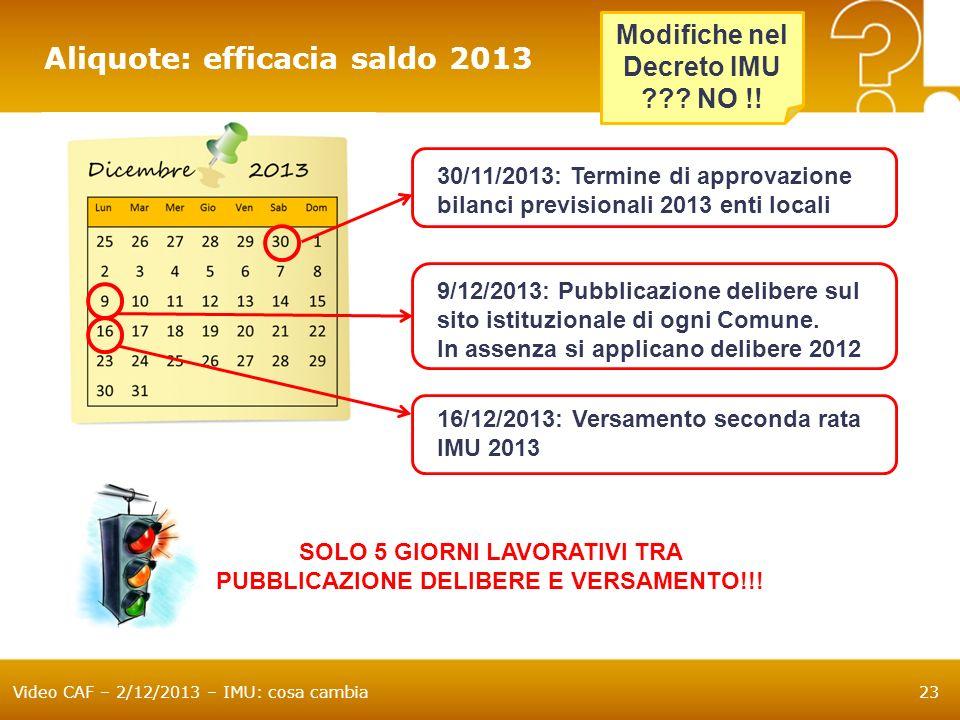 SOLO 5 GIORNI LAVORATIVI TRA PUBBLICAZIONE DELIBERE E VERSAMENTO!!!