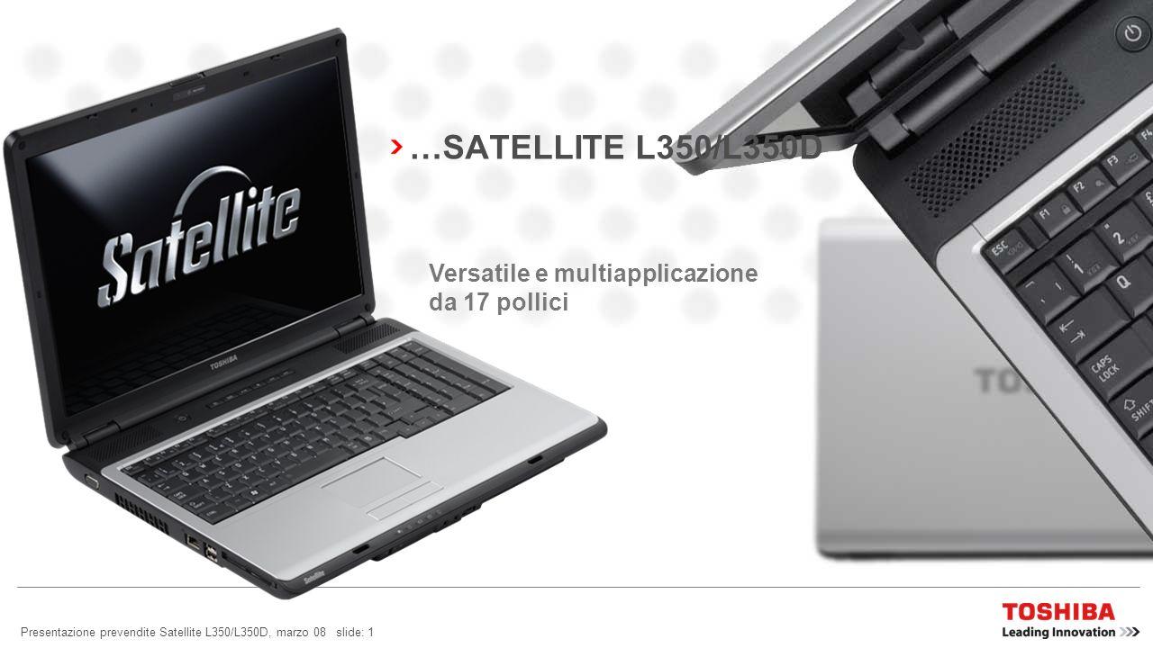 …SATELLITE L350/L350D Versatile e multiapplicazione da 17 pollici