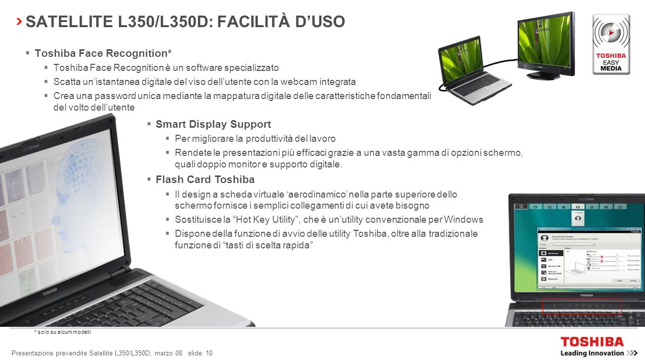 SATELLITE L350/L350D: FACILITÀ D'USO