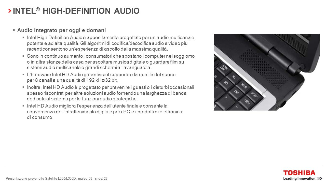 INTEL® HIGH-DEFINITION AUDIO