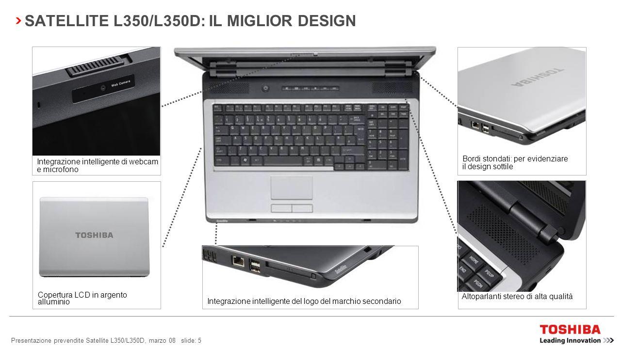 SATELLITE L350/L350D: IL MIGLIOR DESIGN