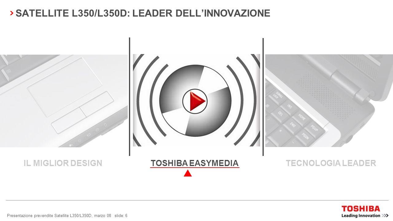 SATELLITE L350/L350D: LEADER DELL'INNOVAZIONE