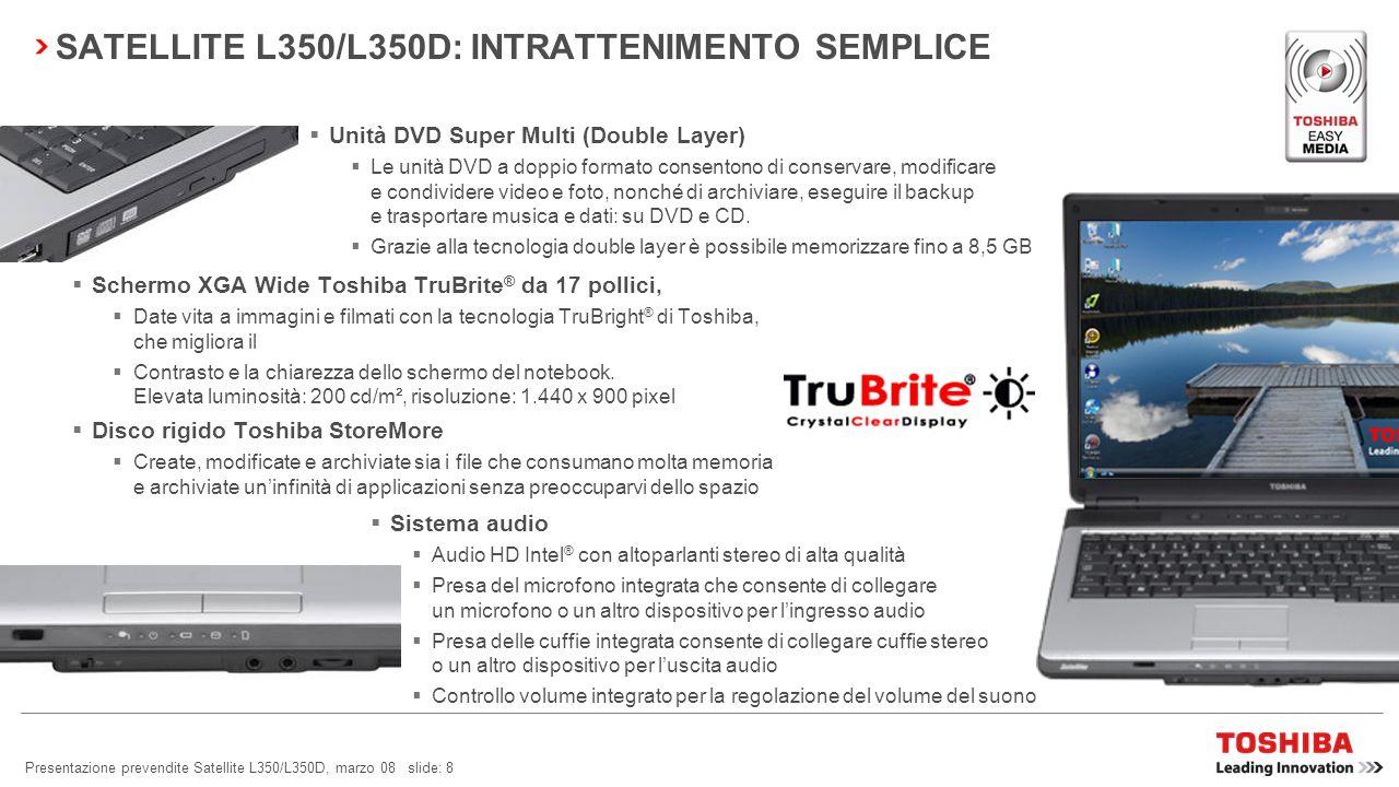 SATELLITE L350/L350D: INTRATTENIMENTO SEMPLICE