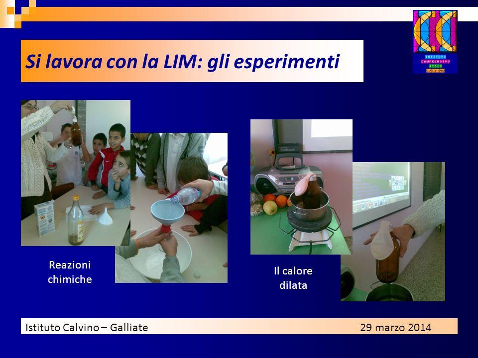 Si lavora con la LIM: gli esperimenti