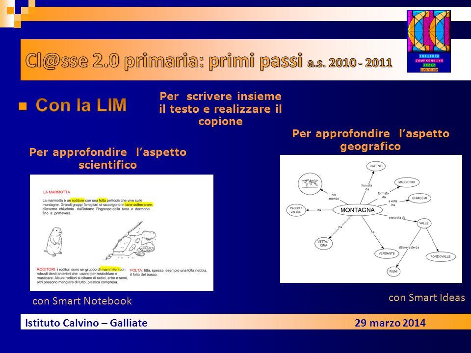 Cl@sse 2.0 primaria: primi passi a.s. 2010 - 2011