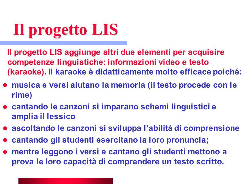 Il progetto LIS