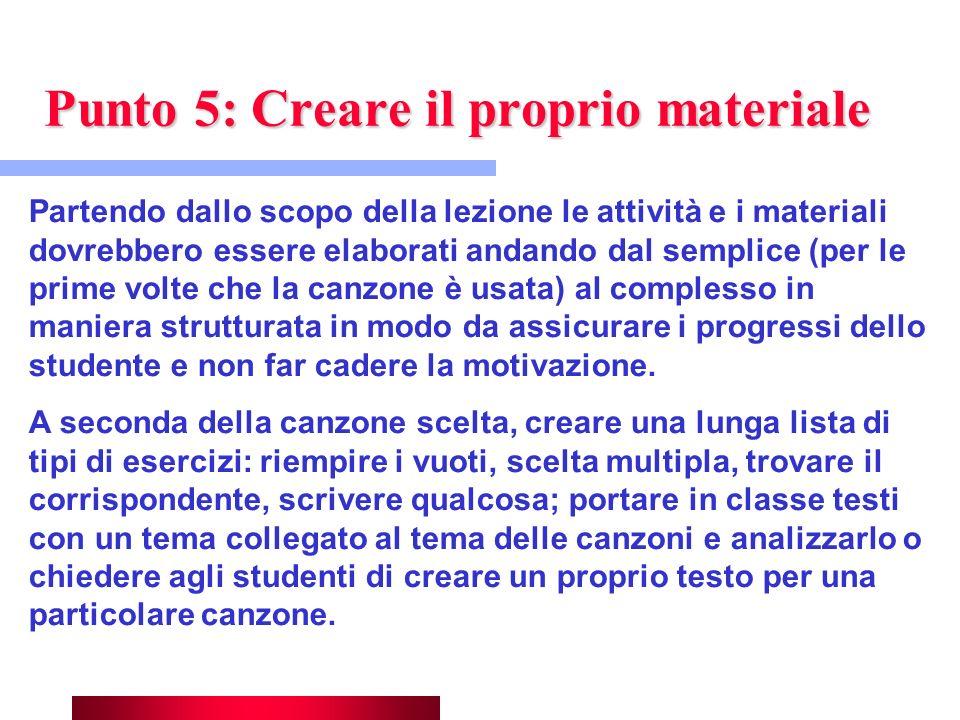 Punto 5: Creare il proprio materiale