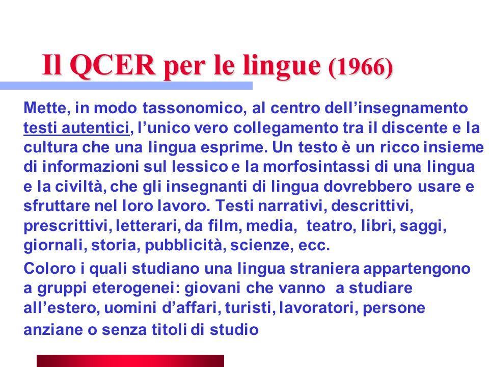 Il QCER per le lingue (1966)