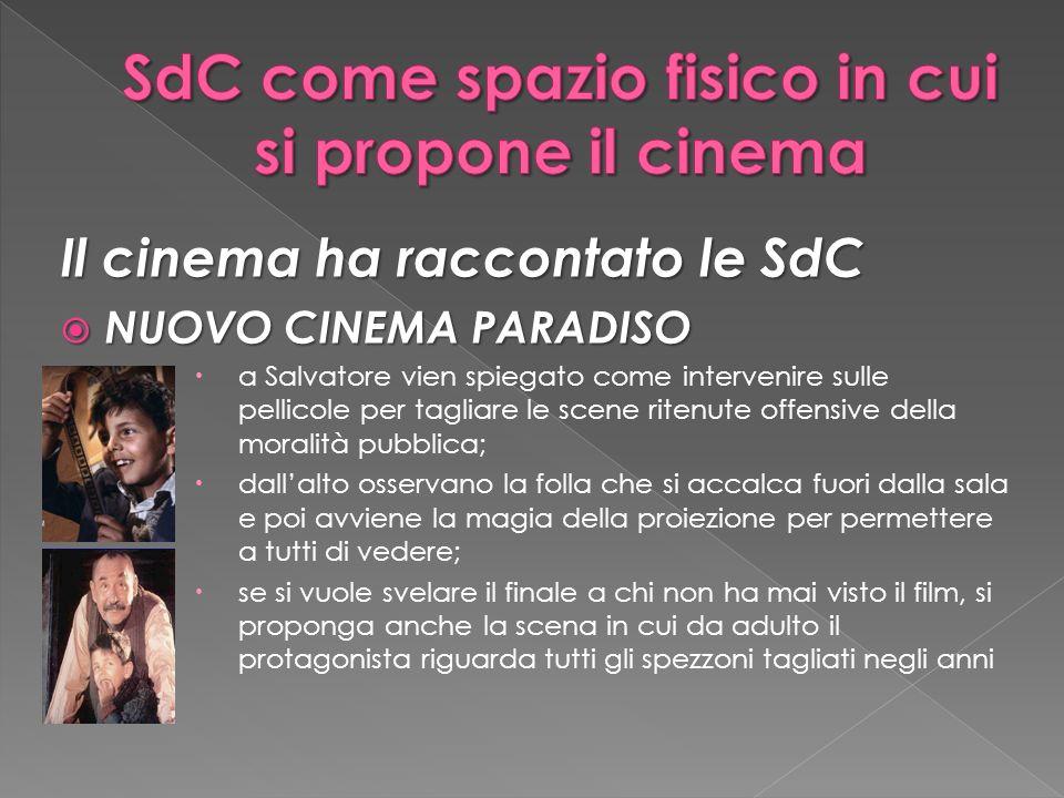 SdC come spazio fisico in cui si propone il cinema