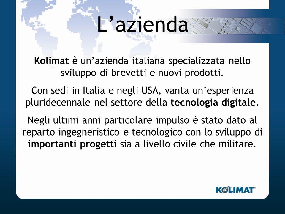 L'aziendaKolimat è un'azienda italiana specializzata nello sviluppo di brevetti e nuovi prodotti.