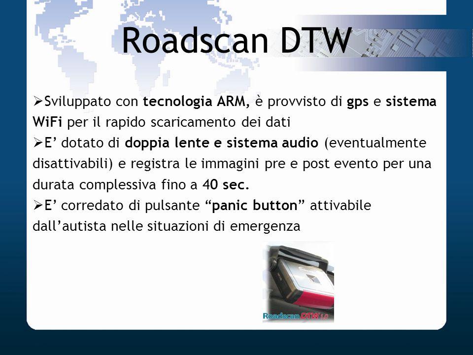 Roadscan DTWSviluppato con tecnologia ARM, è provvisto di gps e sistema WiFi per il rapido scaricamento dei dati.