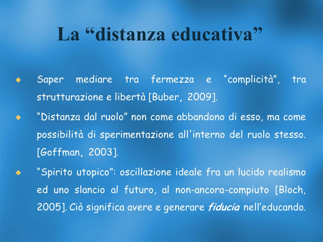 La distanza educativa