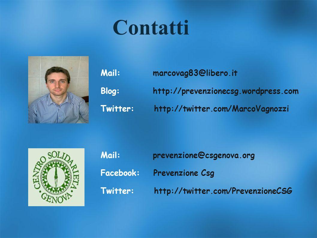 Contatti Mail: marcovag83@libero.it