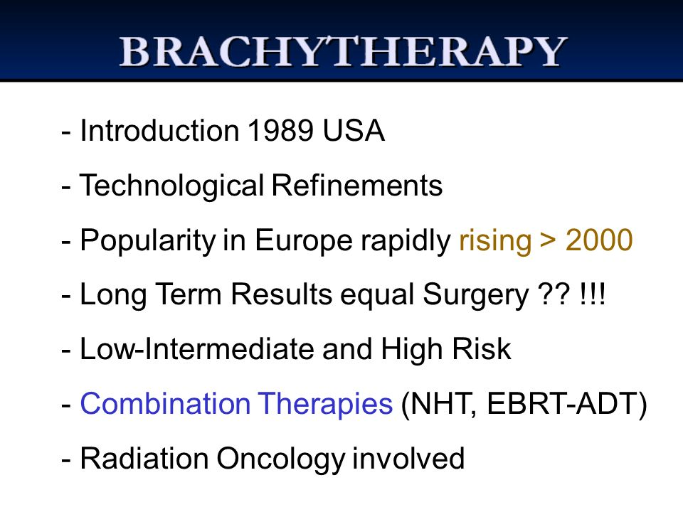 Introduction 1989 USA Technological Refinements. Popularity in Europe rapidly rising > 2000. Long Term Results equal Surgery !!!