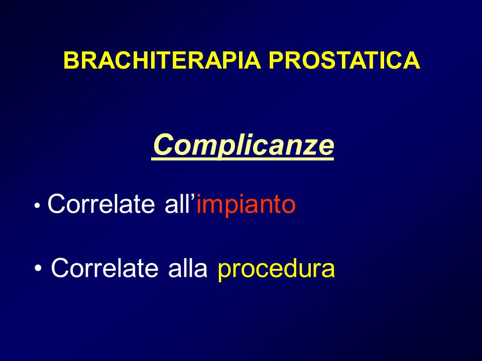 BRACHITERAPIA PROSTATICA
