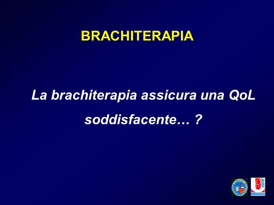La brachiterapia assicura una QoL soddisfacente…