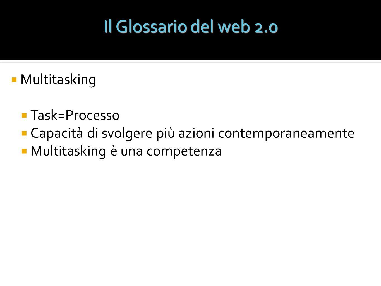 Il Glossario del web 2.0 Multitasking Task=Processo