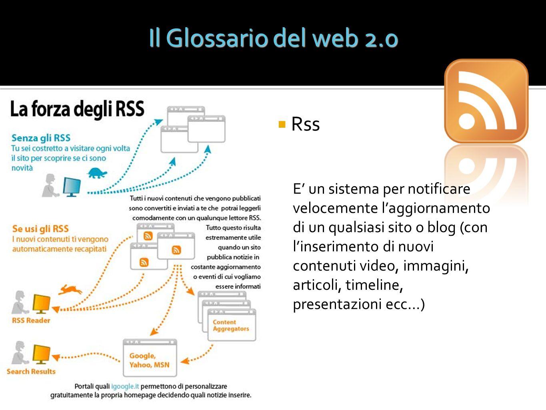 Il Glossario del web 2.0 Rss
