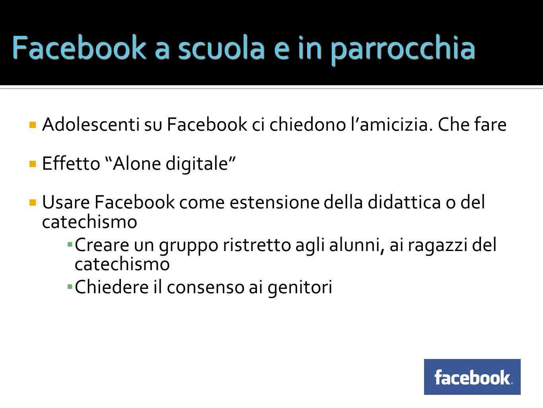 Facebook a scuola e in parrocchia