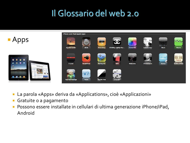 Il Glossario del web 2.0 Apps