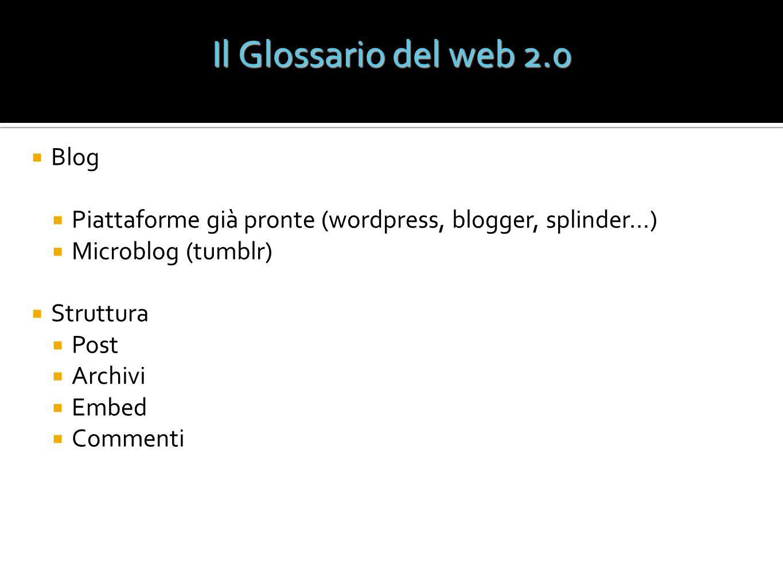 Il Glossario del web 2.0 Blog
