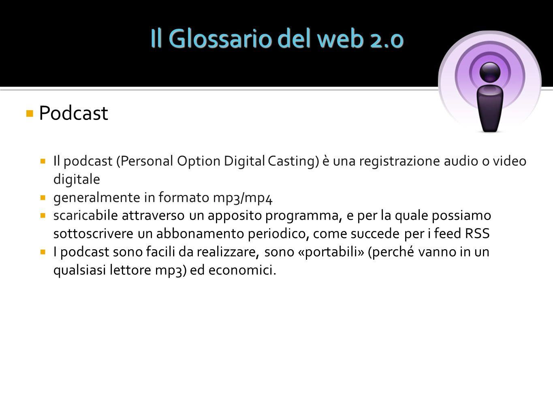 Il Glossario del web 2.0 Podcast