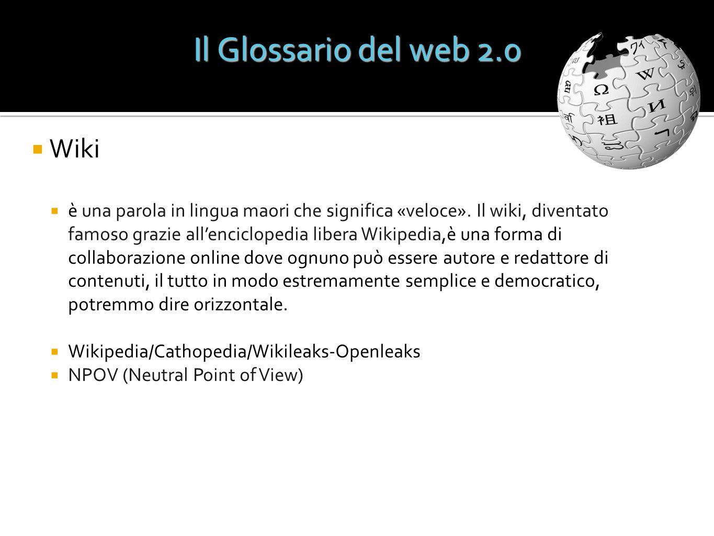Il Glossario del web 2.0 Wiki