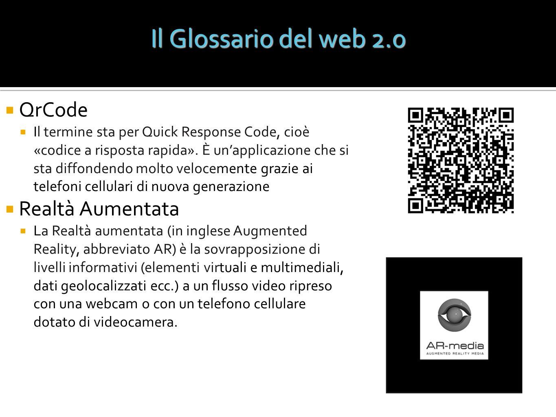 Il Glossario del web 2.0 QrCode Realtà Aumentata