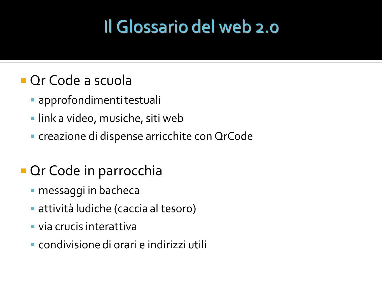 Il Glossario del web 2.0 Qr Code a scuola Qr Code in parrocchia