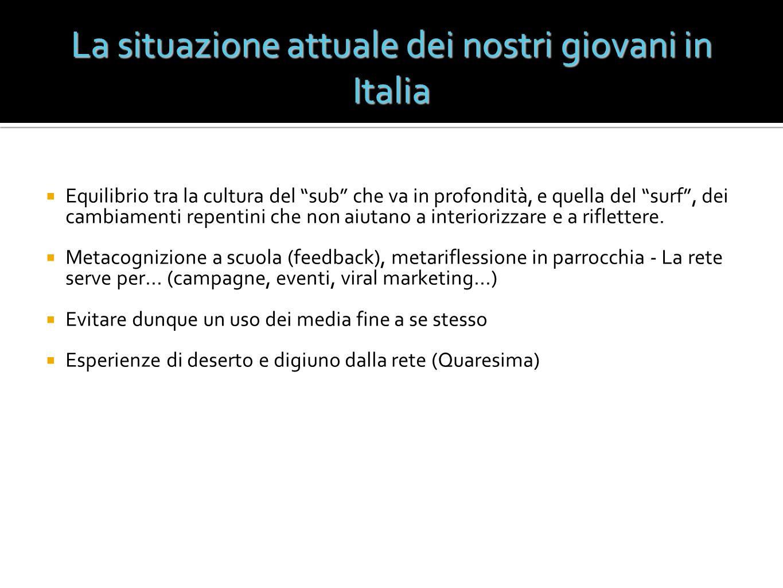 La situazione attuale dei nostri giovani in Italia