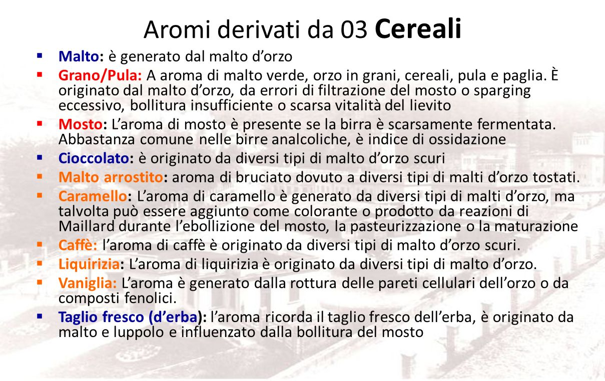 Aromi derivati da 03 Cereali